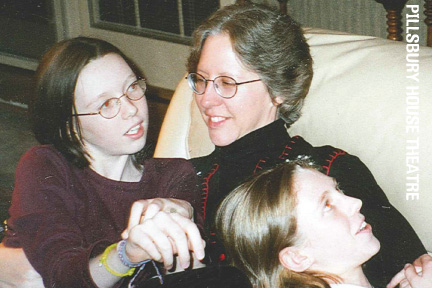 Beth Milligan with her daughters Caitlin and Hannah